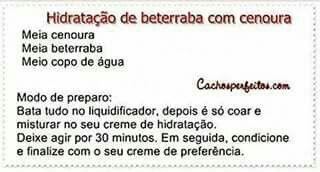 Hidratacao De Beterraba Com Cenoura Cremes De Hidratacao