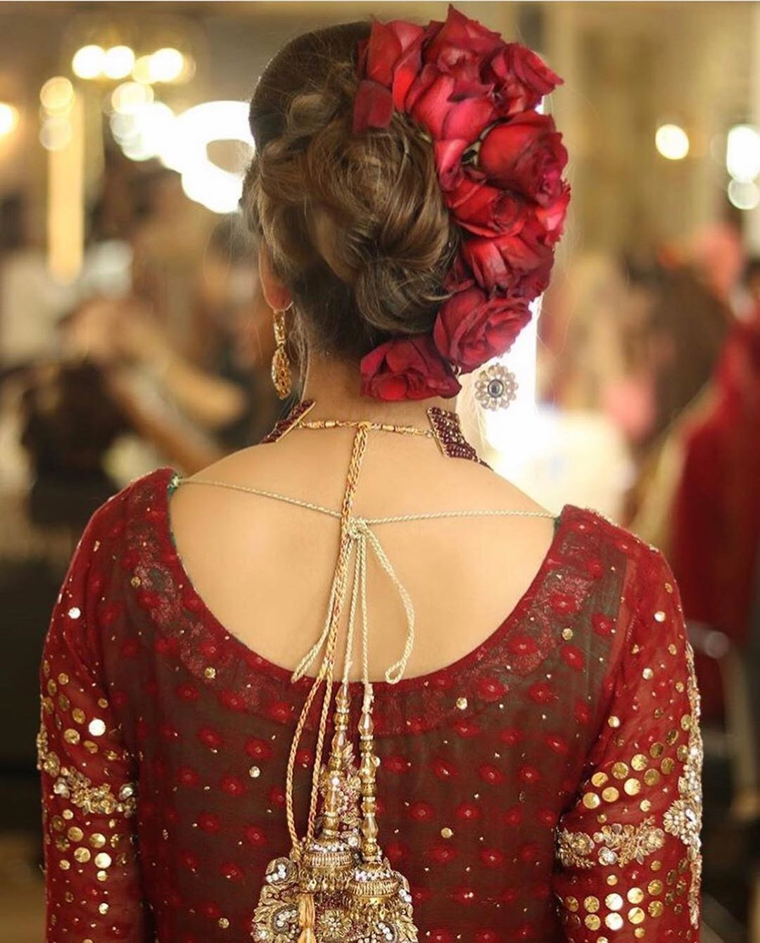 Pakistani Bride On Instagram Bridal Hair Inspo Via Sarasalonandspa Pakistan Bridal Hair Buns Bride Hairstyles Bridal Hairstyle Indian Wedding