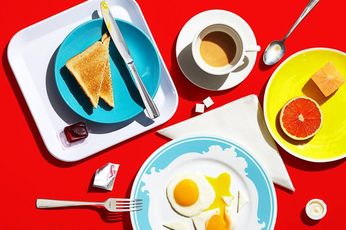 #Breakfast in #America :: The #Toronto-based #food and #stilllife team of #commercialphotographer Michael Crichton and #stylist and wife Leigh MacMillan have brought their bold, graphic style and #whimsical approach to a personal series of #meals around the world. The idea is to shoot food that is approachable and not too precious.