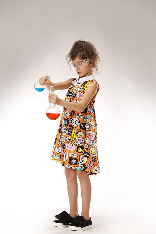 The perfect look for your little scientist! Fendi dress for girls!