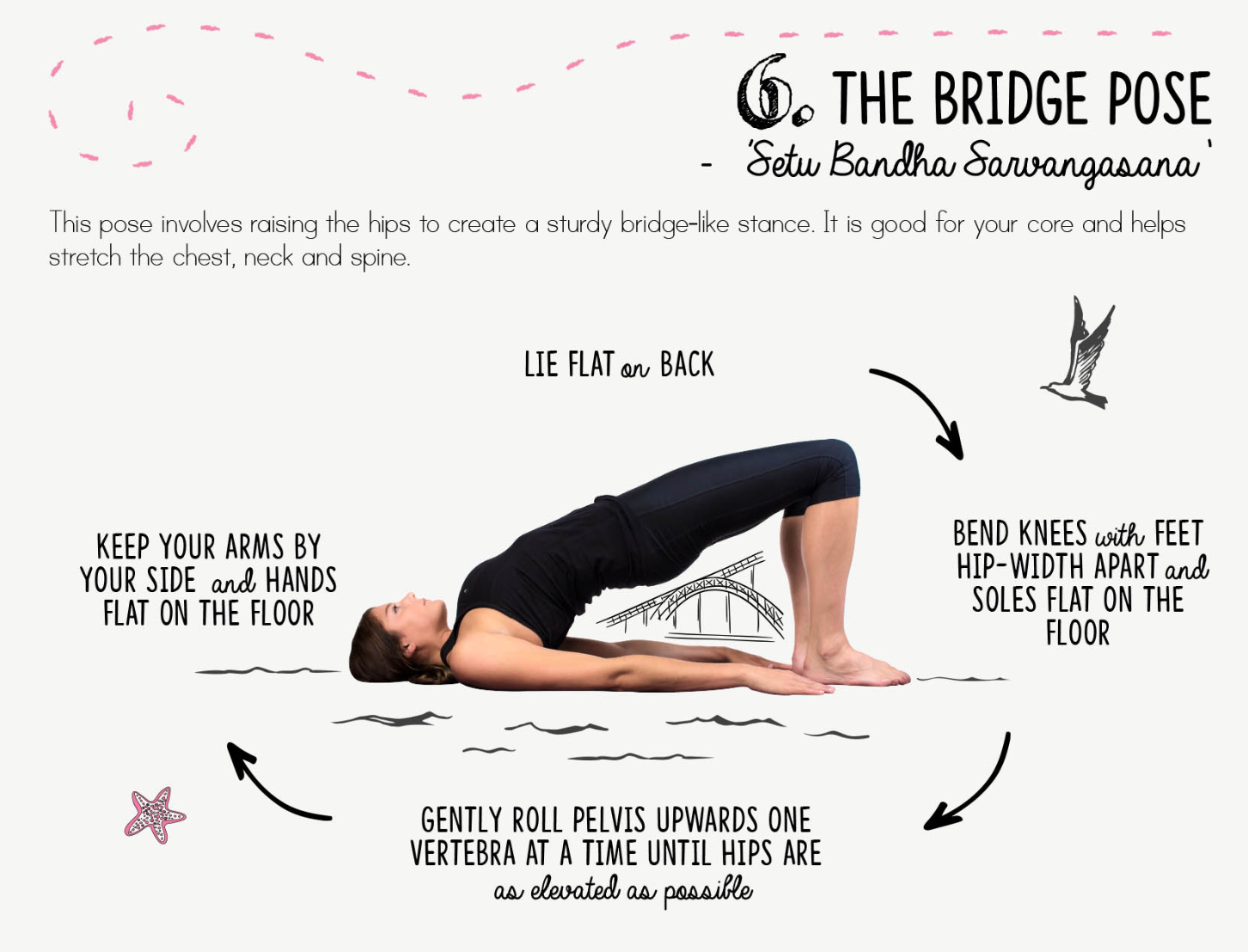 Pin By Erika K On M I N D F U L N E S S Bridge Pose Bend Knee Backbend