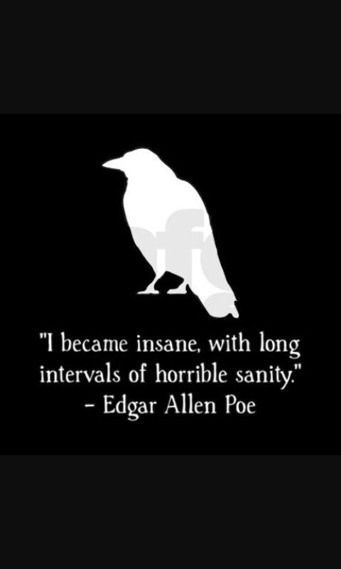 I Became Insane Edgar Allen Poe Spoken Thoughts Pinterest Adorable Edgar Allan Poe Love Quotes