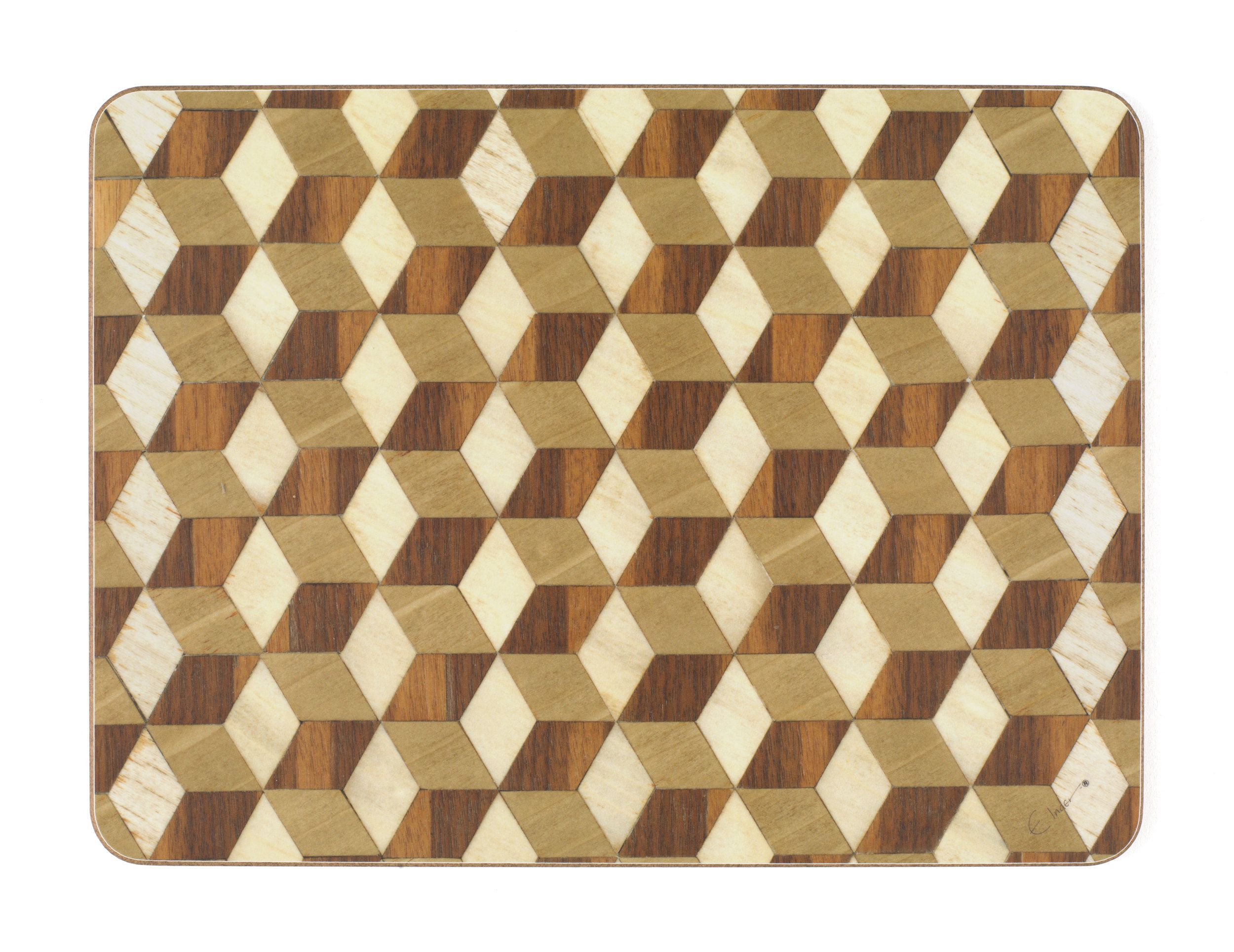Place Mat Assorted Colours Available In Abstract Designs Heat Resistant Melamine Geometric Pattern Ready To Post From Uk Brown Placemats Placemats Etsy