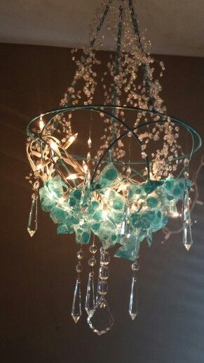 Homemade whimsical chandelier for girls room things i want to homemade whimsical chandelier for girls room mozeypictures Images