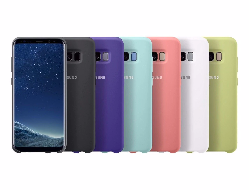 Original Samsung Silicone Case Cover For Samsung Galaxy S8 S8 Plus S8 G9550 9500 Ef Pg950 Protection Anti Wear 6 Colors Samsung Galaxy Samsung Galaxy