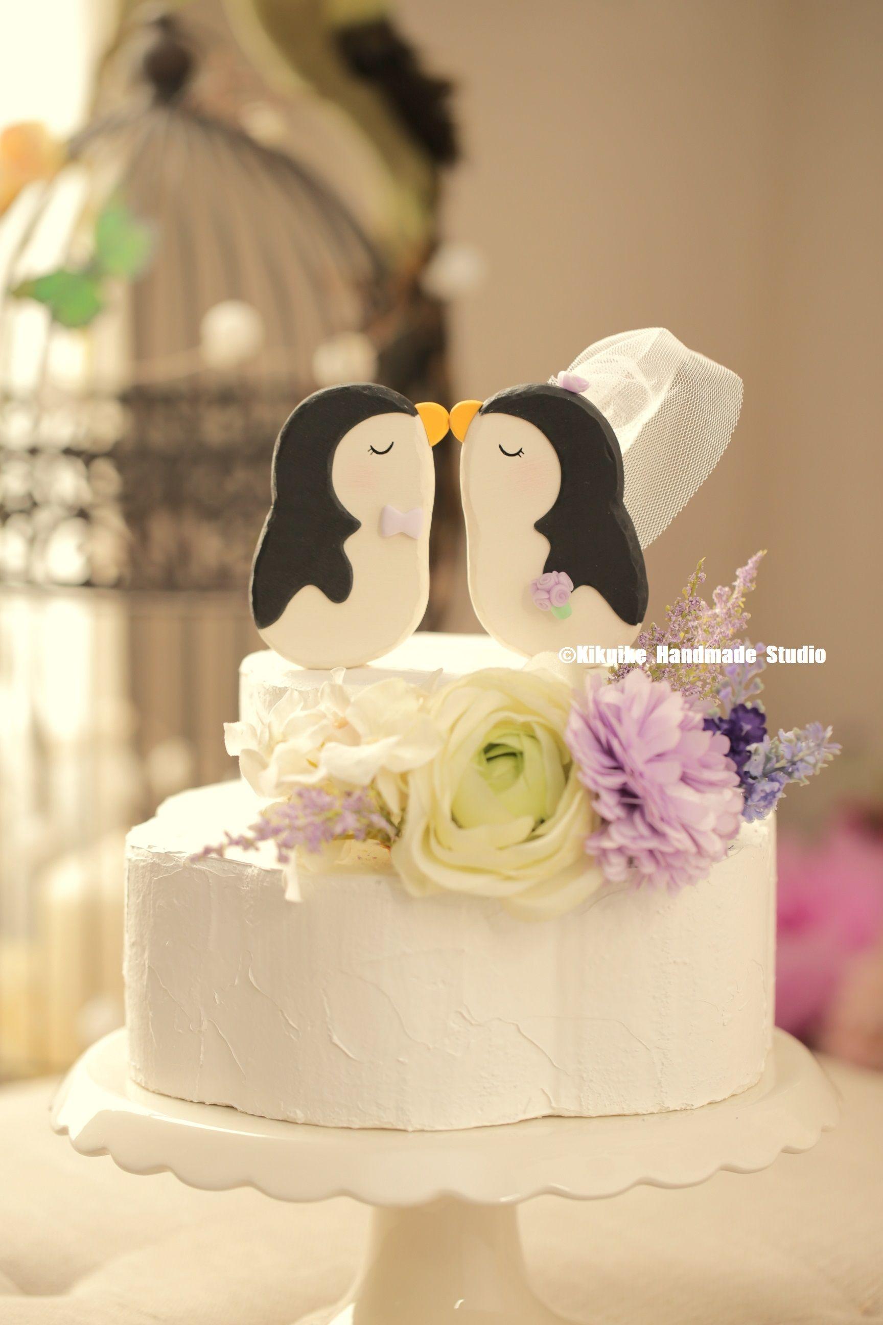 penguins wedding cake topper ,Handmade penguins cake topper ...