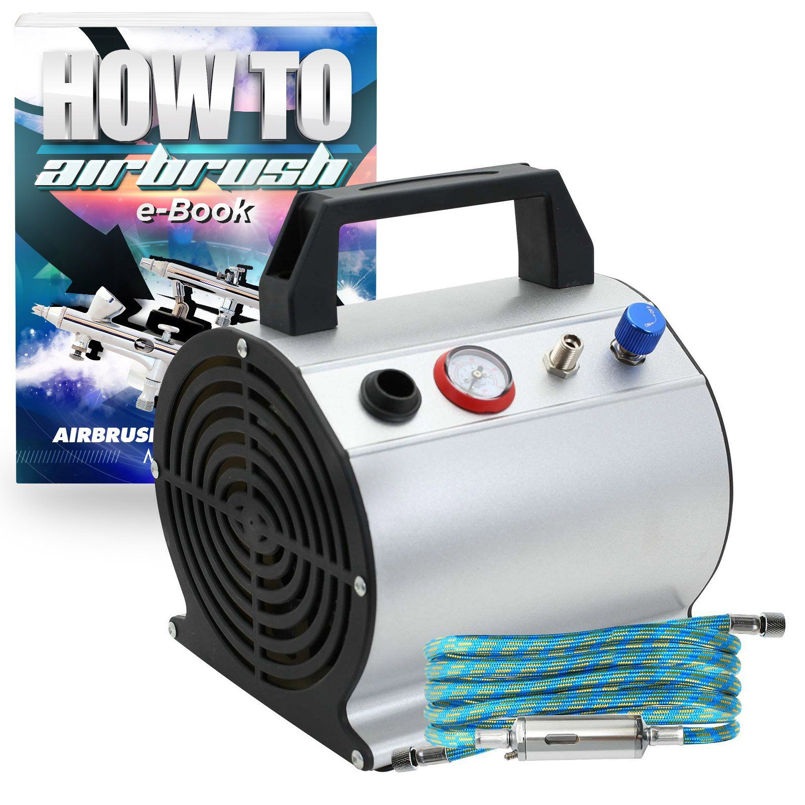 1/6 HP Airbrush Compressor Small Quiet Oilless Air Pump
