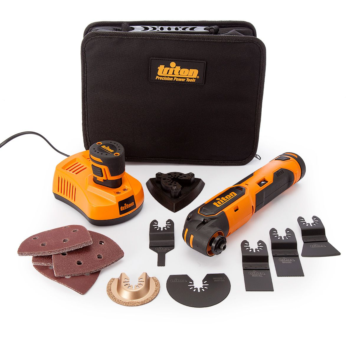 Triton 103691 Oscillating Multi Tool 12V. Versatile Li-Ion oscillating tool that cuts, sands, scrapes, grinds, rasps and...5024763111112