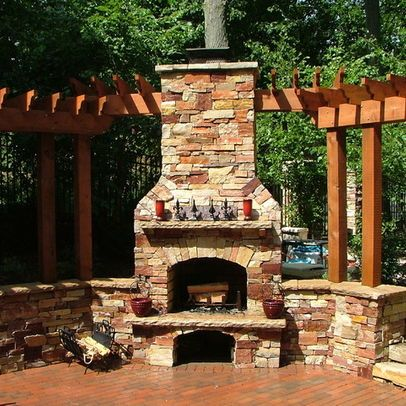 Ada Pool, Natural Stone Wall, and Outdoor Fireplace Home is where