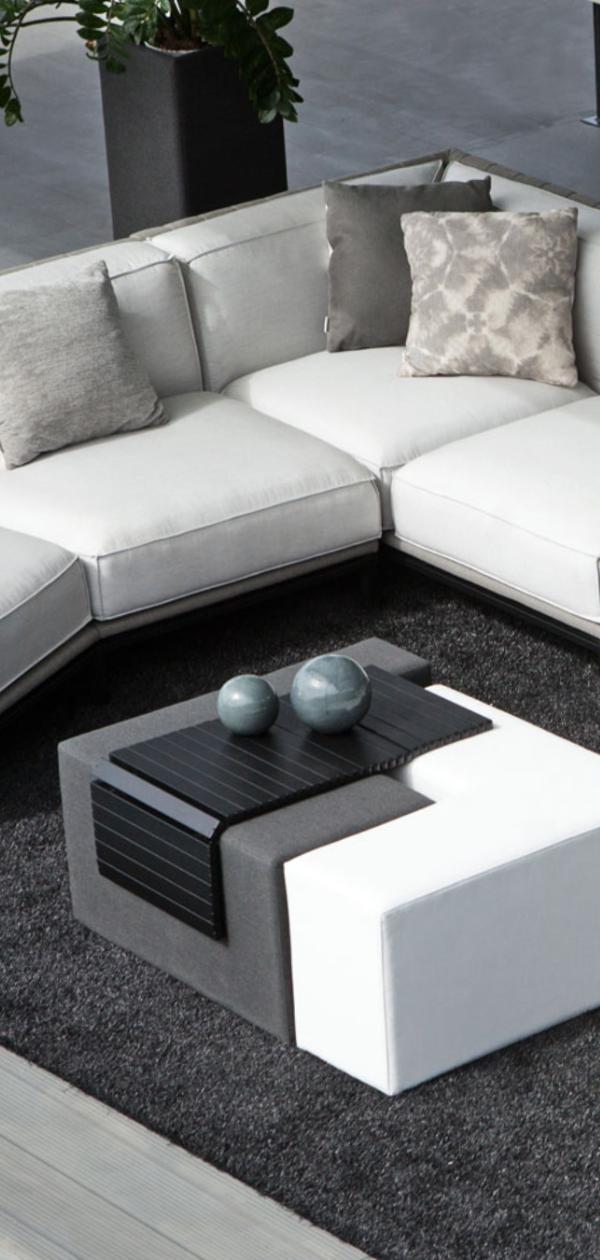 Outflexx Jewel Loungeset Marble Alu Sunbrella 5 6 Pers Inkl Dekokissen Eingebauter Tisch Mit Keramikplatte 20808 Lounge Garnitur Lounge Aussenmobel