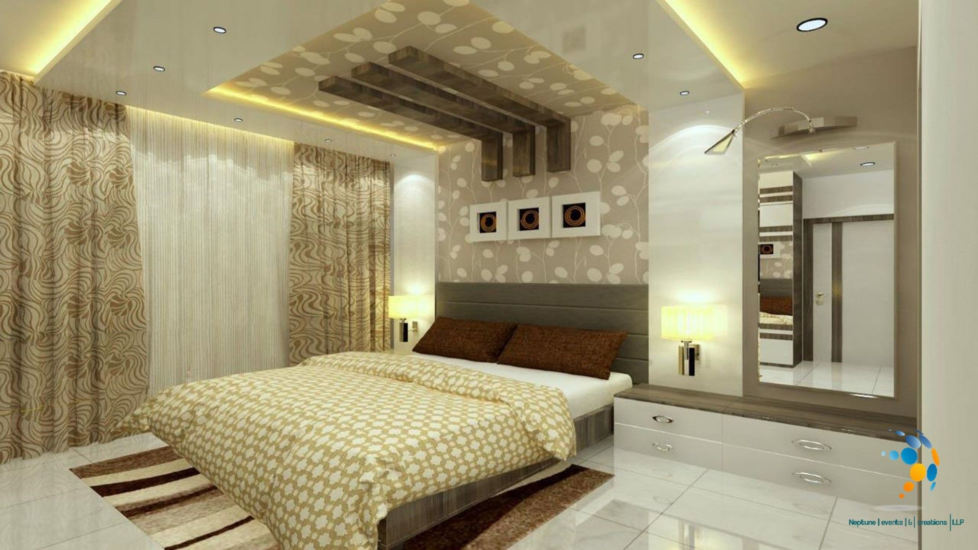 Best Interior Design And Rendering Of A Master Bedroom In A 400 x 300