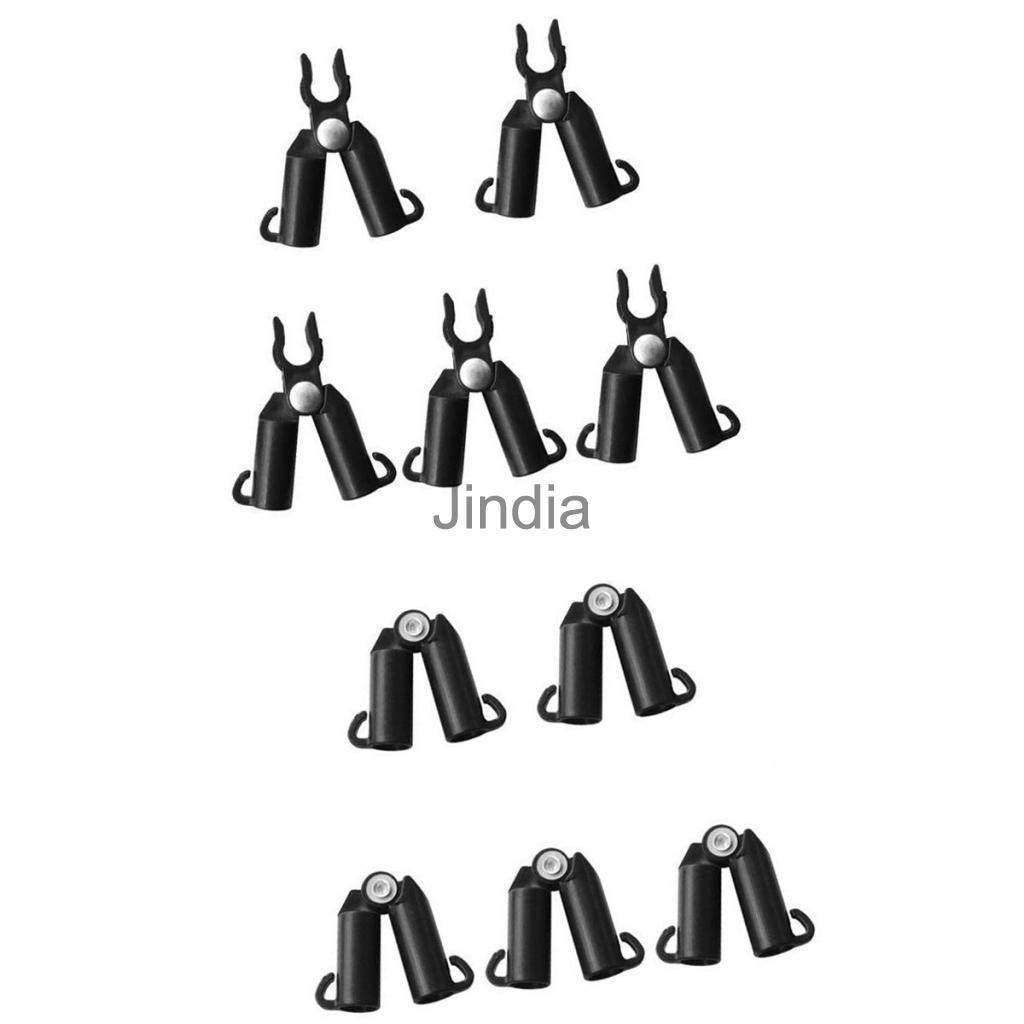 10Pcs Garden Plant Support 2 Types Clips Climbing Frame Connectors ...