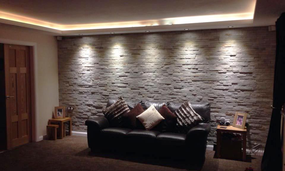 10+ Best Stone Wall Tiles Living Room