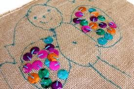 Image result for children drawing on fabric