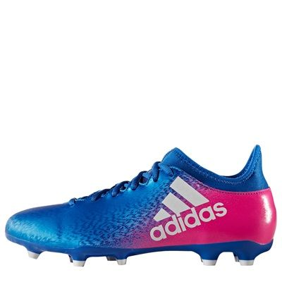 adidas X 16.3 Firm Ground Football Boots - Blue/White/Shock Pink