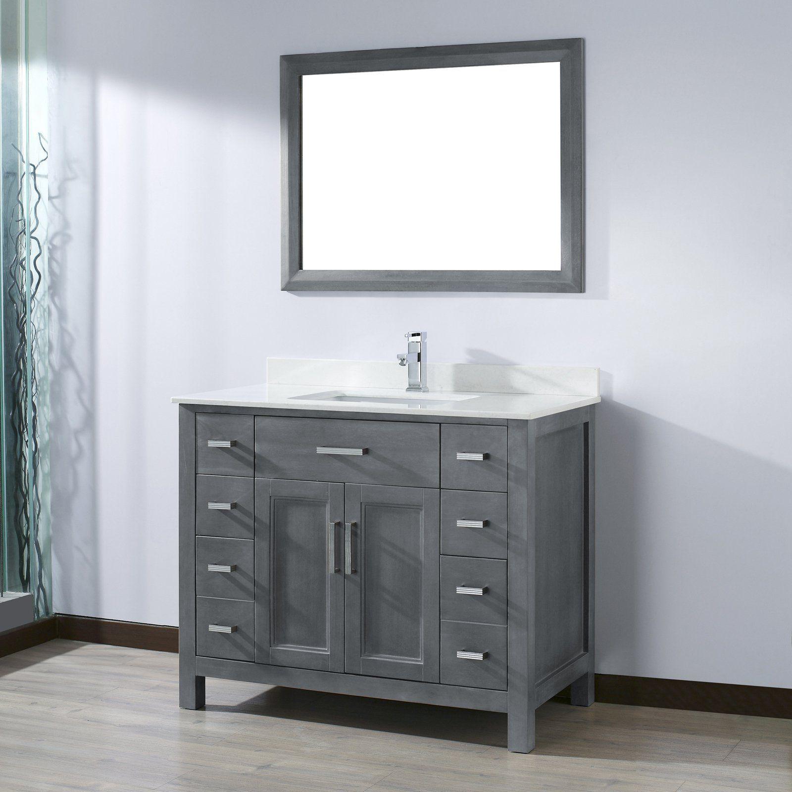 Bauhaus Bath Celize 42 In Single Bathroom Vanity Set With Mirror