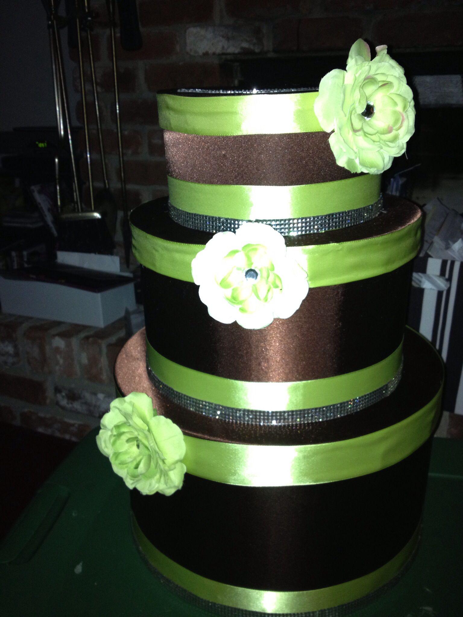 Wedding cake card box I made for Kadara wedding
