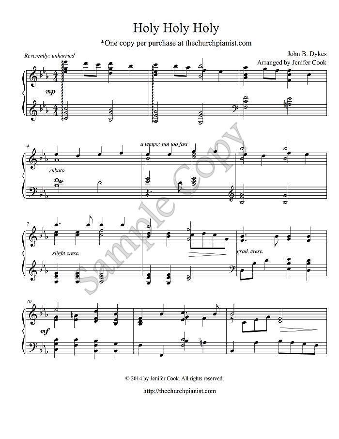Piano o holy night advanced piano sheet music : Advanced Sacred Piano Solo: Holy Holy Holy | Piano / Music ...
