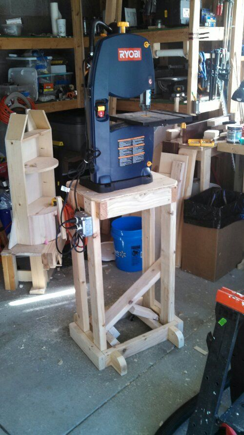 Mobile Band Saw Stand Wheels And Such Bandsaw Diy Table Saw Tool Stands