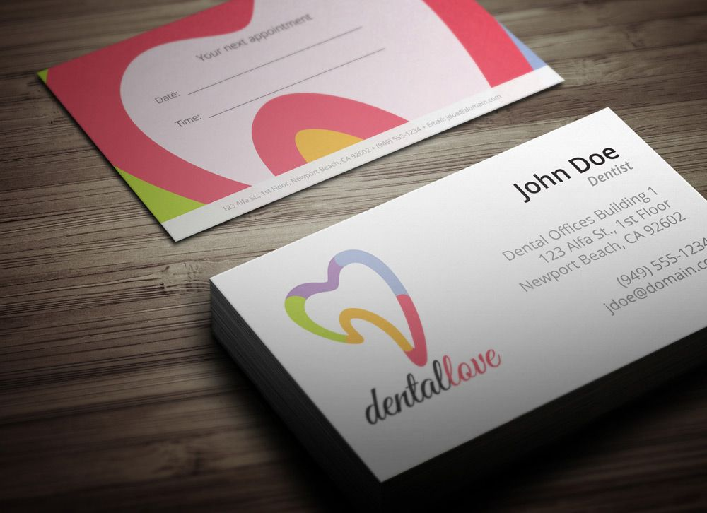 Dentist Business Card Design Download Ready To Print Dental Business Cards Calling Card Design Free Business Card Design