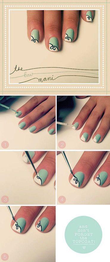 Easy Nail Designs For Short Nails Nails Simple Nails Nail Art Designs Diy