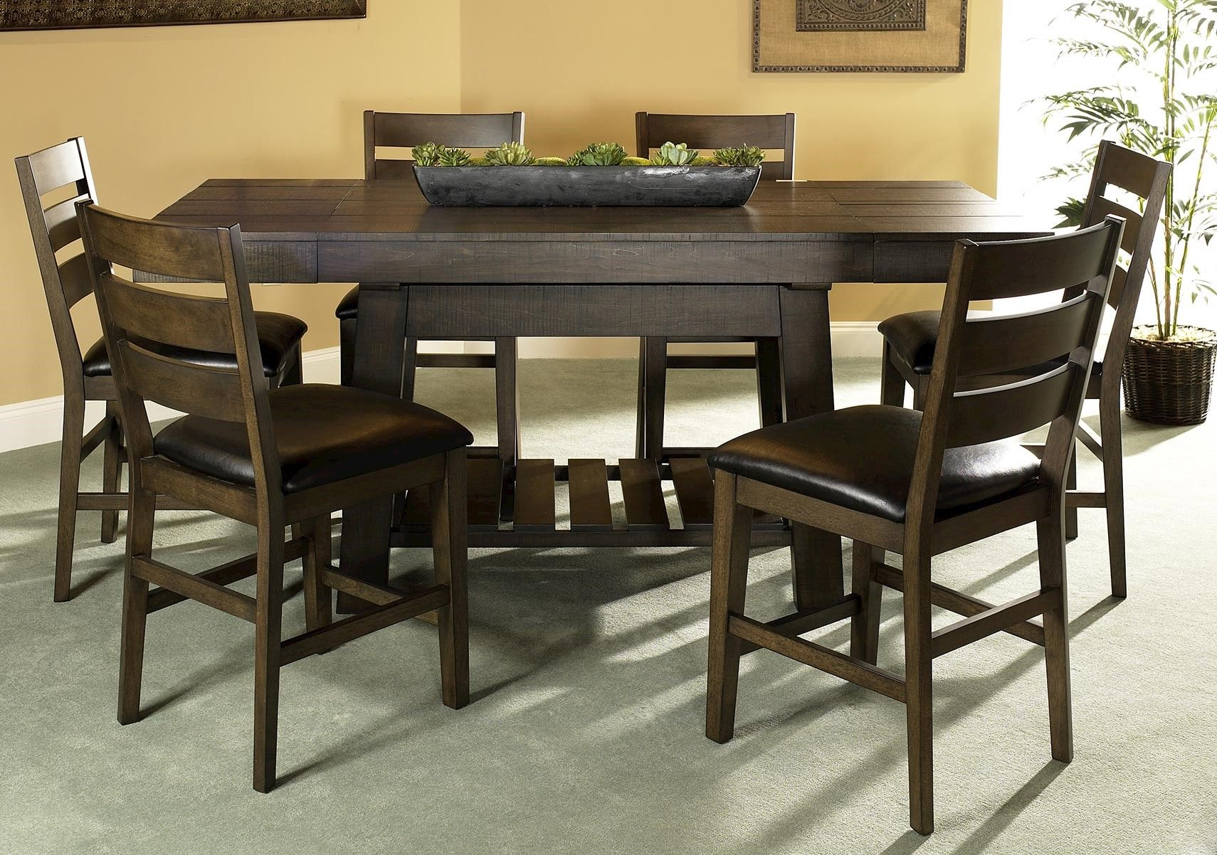 Lacks Big Sky 7 Pc Counter Height Dining Set Dining Room Design Dining Room Sets Modern Dining Room Tables