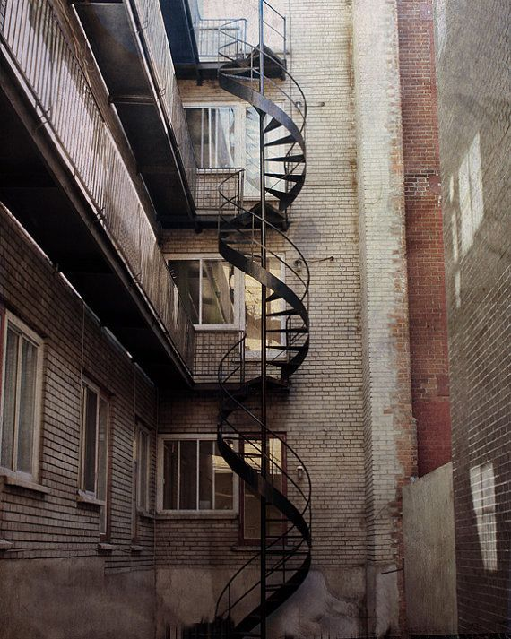 Architecture Print Photography Montreal Art Spiral Staircase