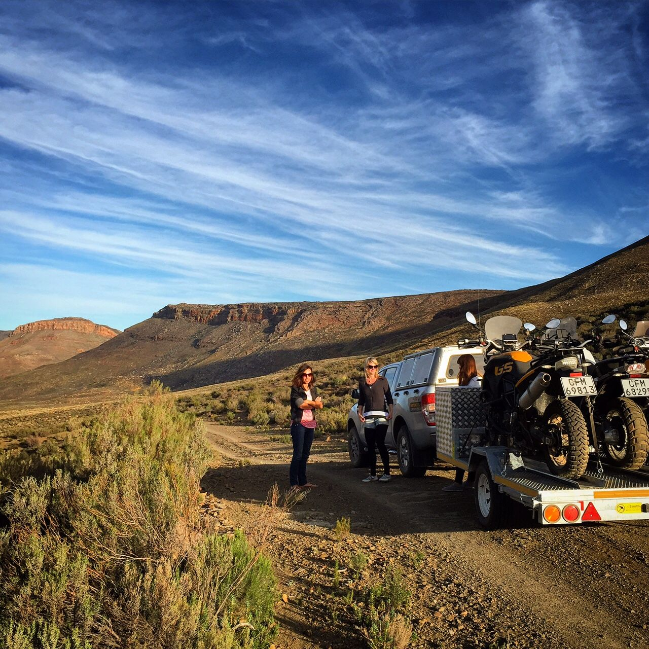 Pre-season run, scouting new routes in the Karoo and testing our brand spanking new trailer! #motorcycle #adventure #travel
