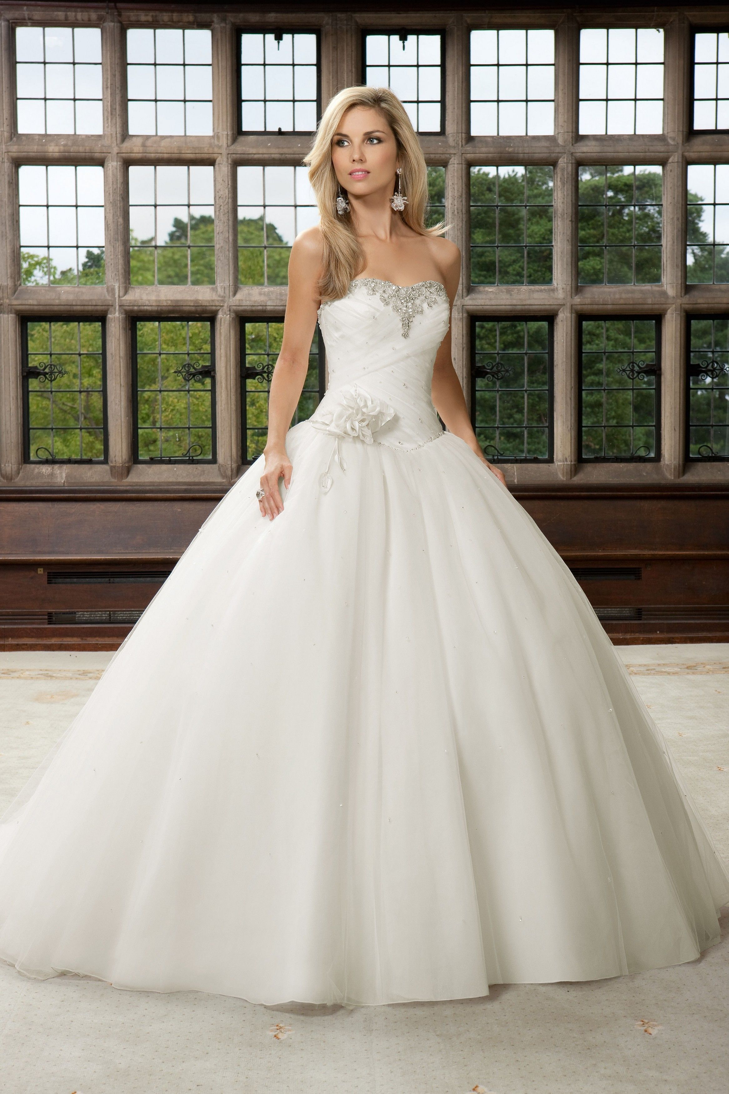White Cinderella Wedding Dresses