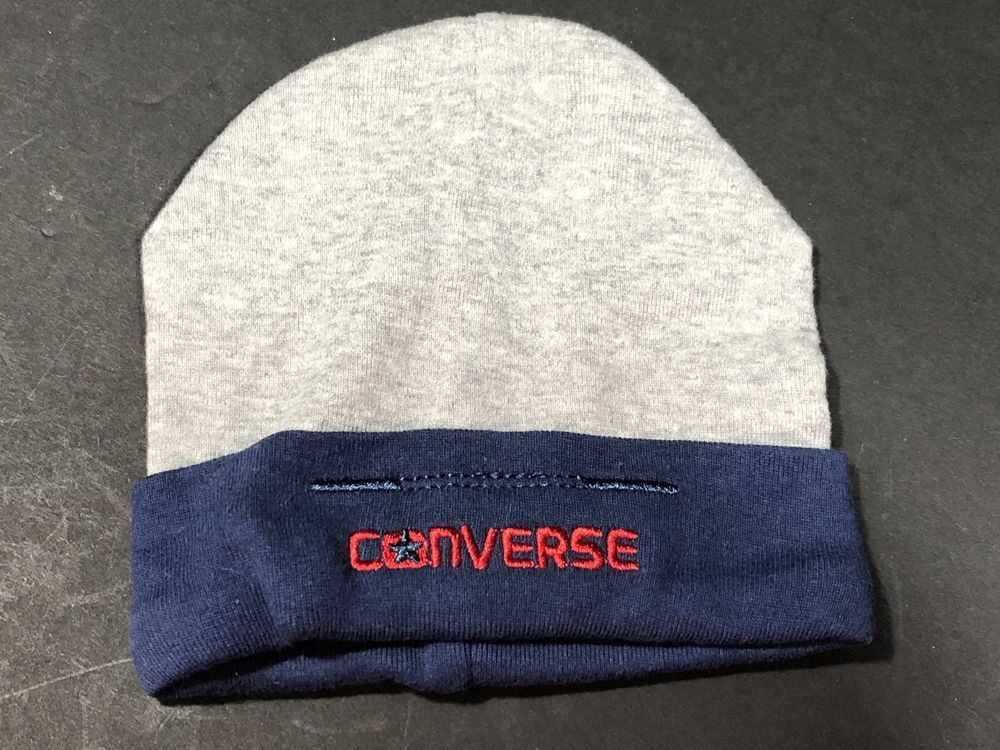 6015c39e377 Baby Boy Accessories Converse Beanie Hat Cap Boggin Navy Gray Size Zero To  6 M  Converse  Beanie Converse Beanie  5.99