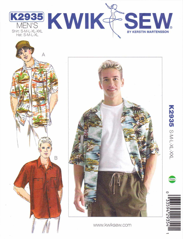 Kwik Sew Sewing Pattern 2935 Men\'s Sizes S-XXL (chest 34\