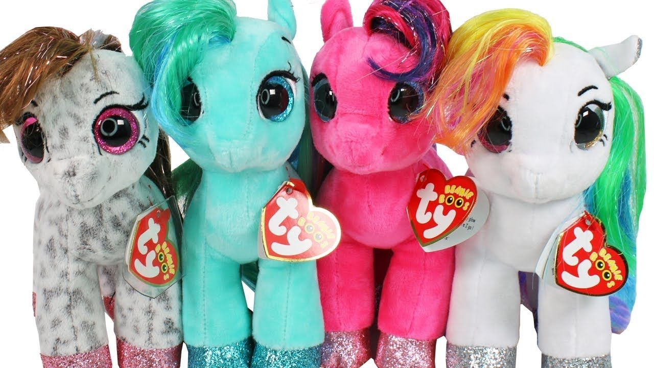 NEW Summer 2018 Little Pony Beanie Boos Haul Unboxing Toy Review TY Bean. 8676cb1d24c9