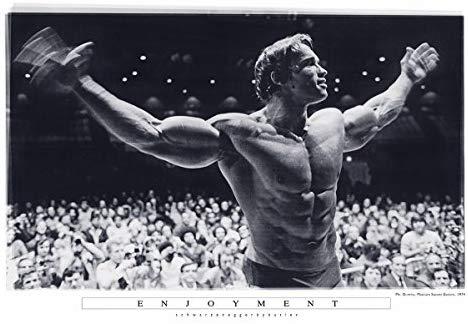 Amazon Com Mr Olympia Enjoyment Madison Square Garden Arnold Schwarzenegger Poster 24x36 Posters Prints Mr Olympia Arnold Schwarzenegger Poster