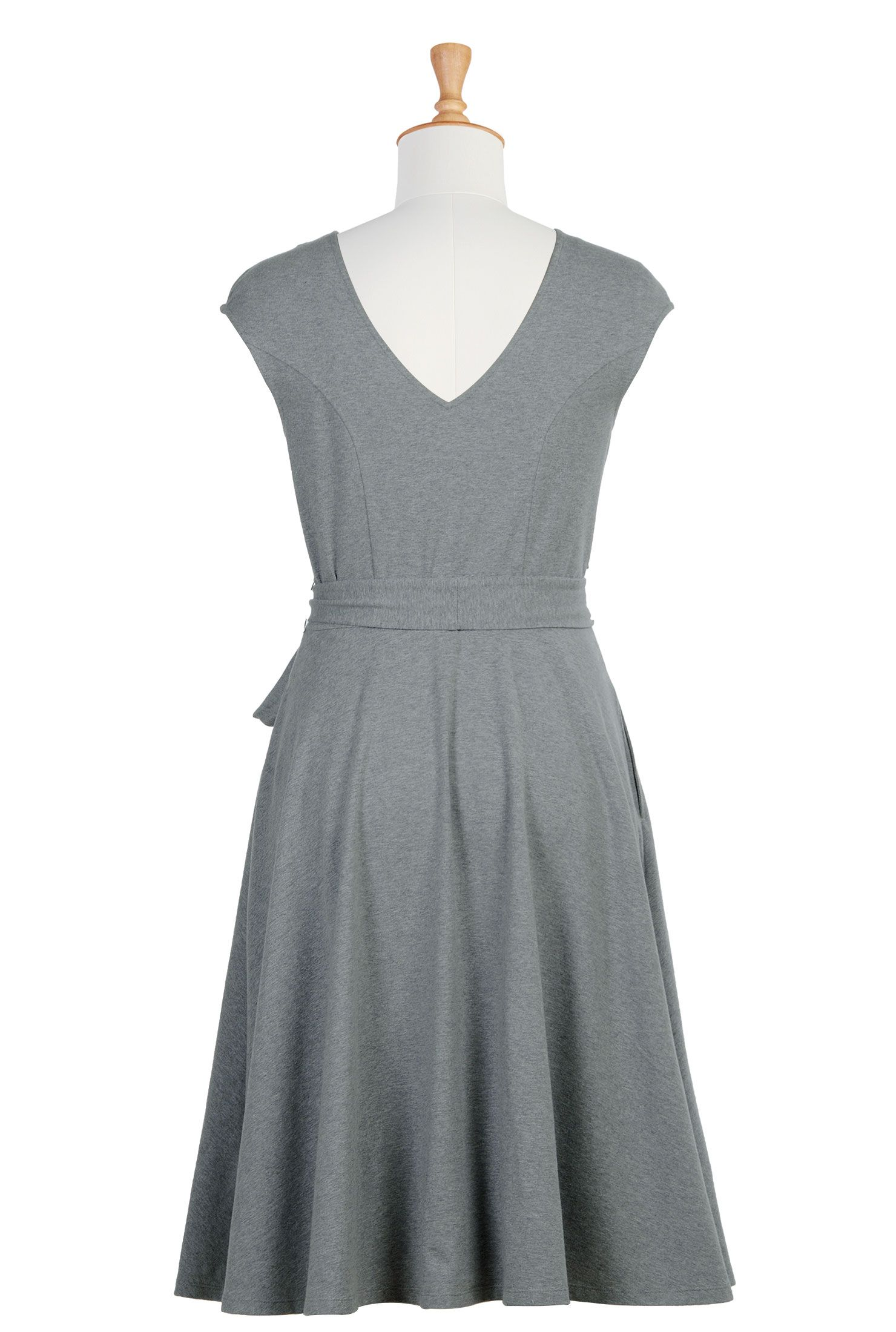 Below knee length dresses belted dresses cap sleeve dresses