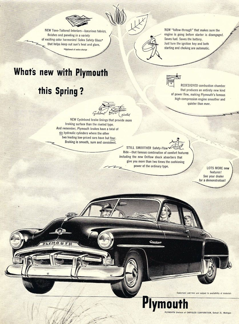 1952 Plymouth | Plymouth ..car brochures | Pinterest | Plymouth ...