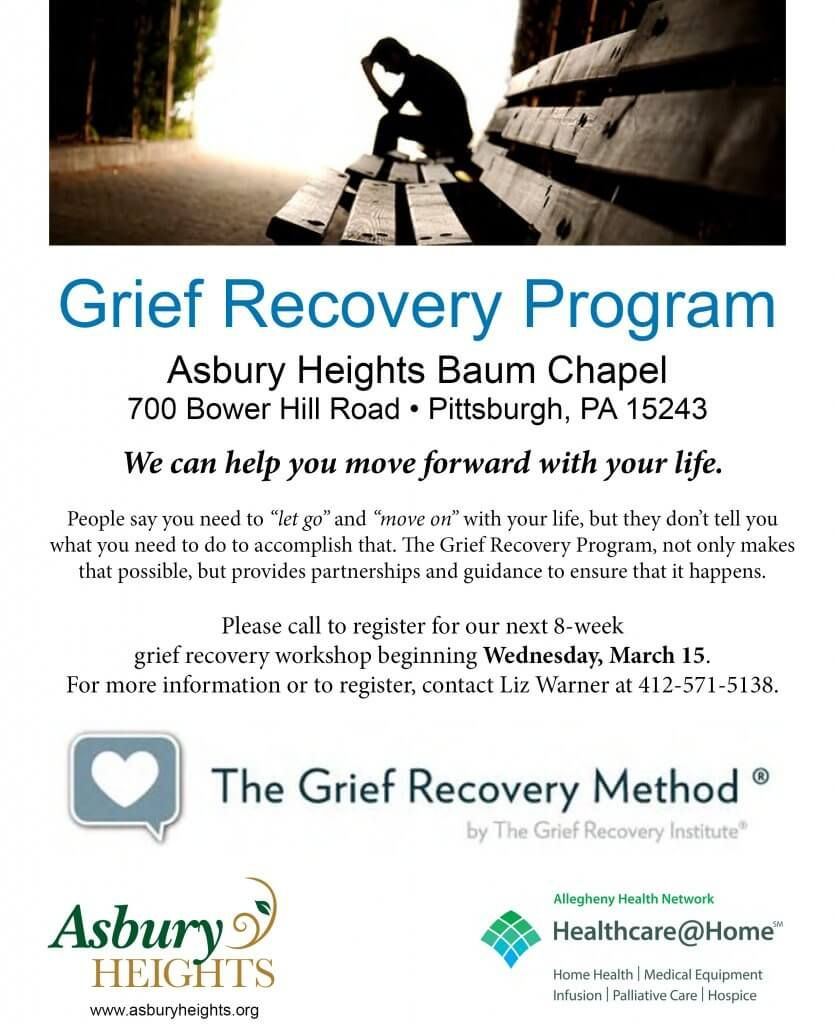 Our friends at Asbury Heights are hosting a Grief Recovery