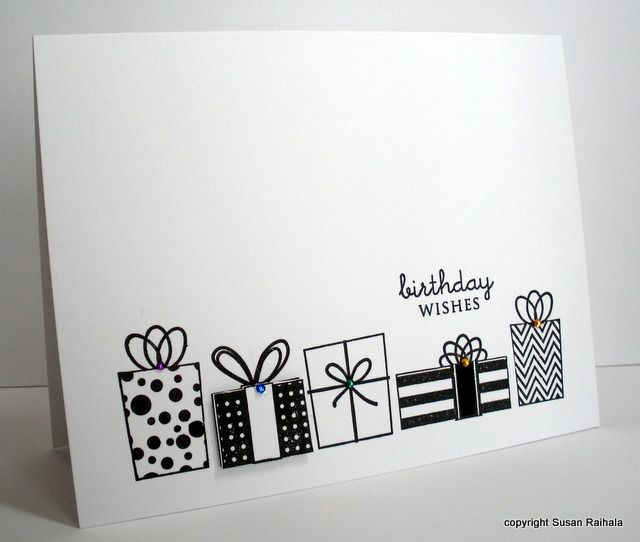 Hampton Arts Presents Stamp Take 1 With Images Birthday Cards