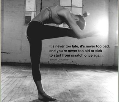 The Best Fitness Motivation Quotes//It's Never Too Late c Pinterest