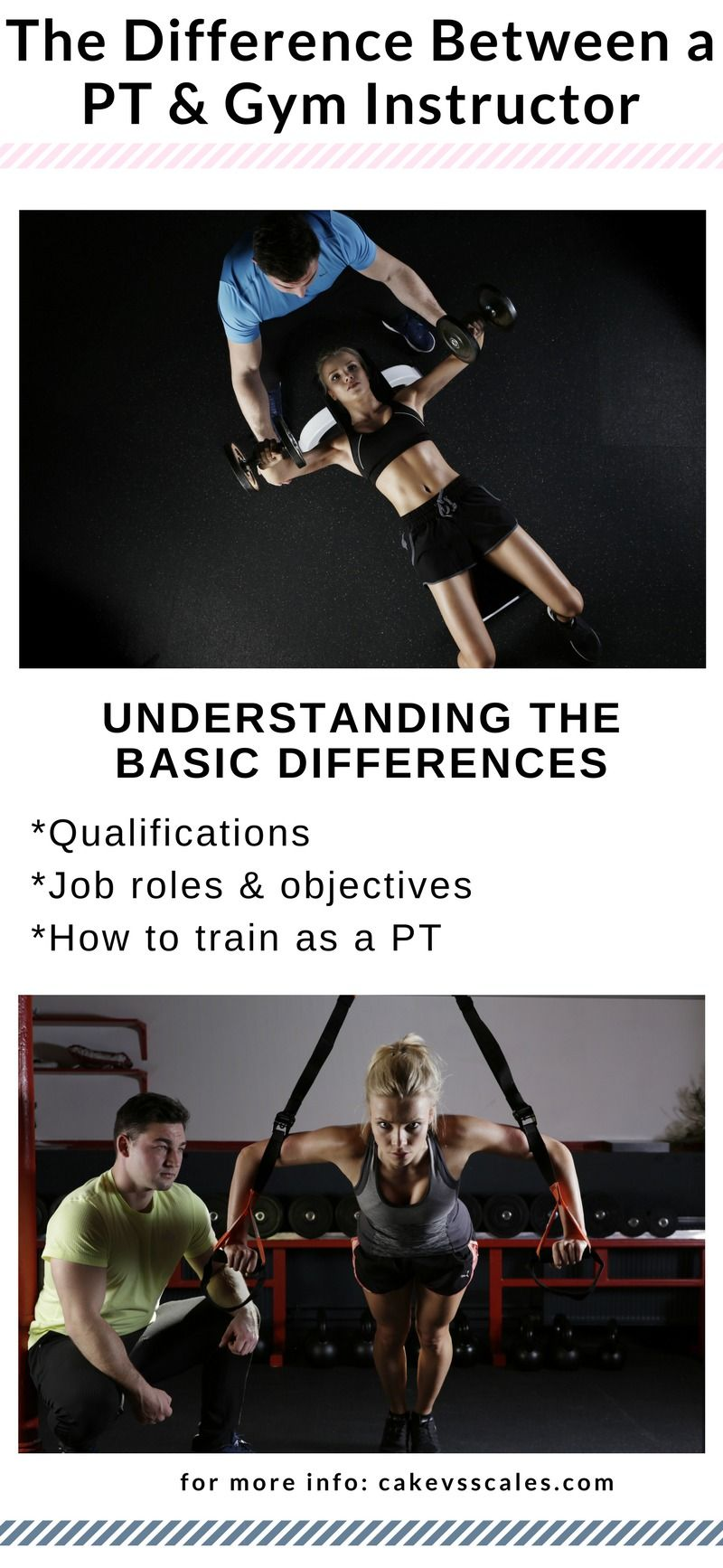 What is the difference between a gym instructor and a pt? wellness