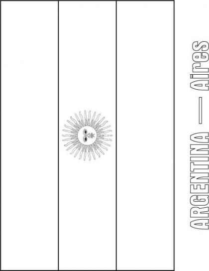 South American Flags Coloring Pages | American flag ...
