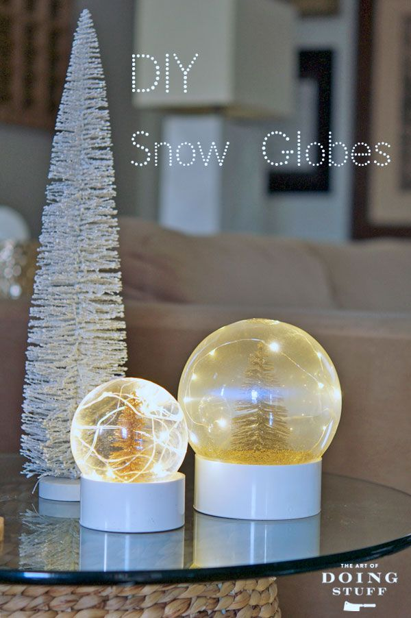 Make Your Own Real Snow Globe Diy Pinterest Snow Globes Diy