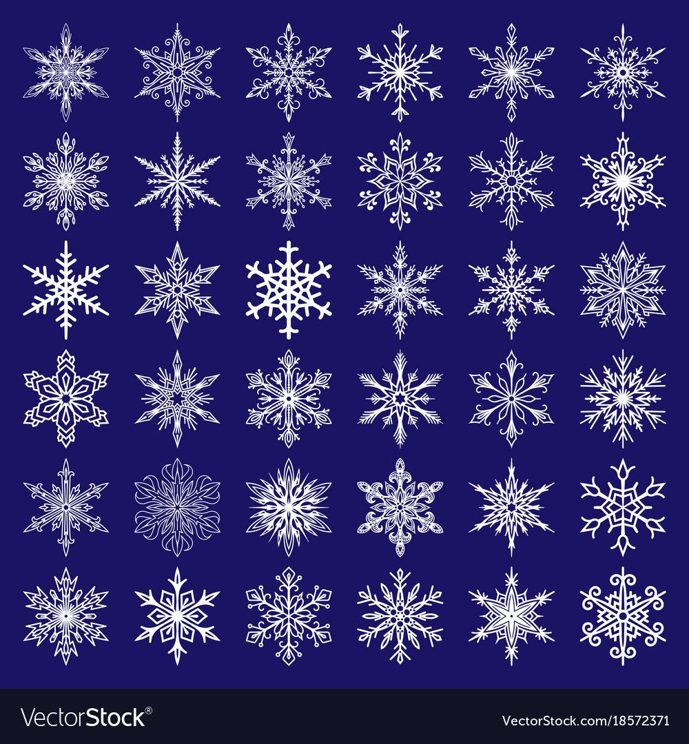 Snowflakes icons frozen frost star Royalty Free Vector