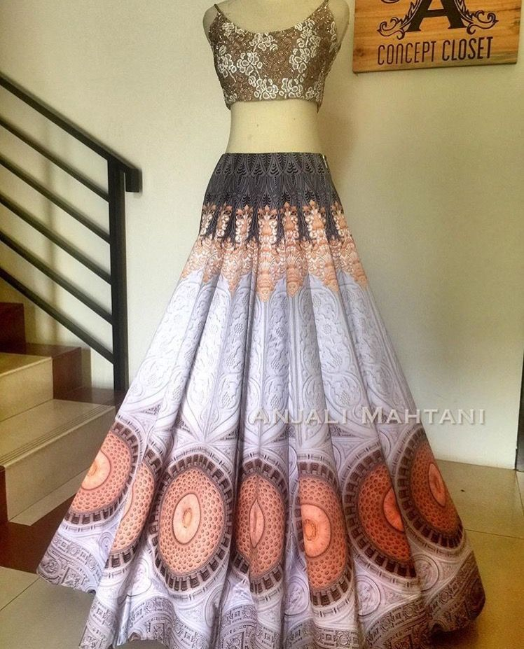 This lengha by Anjali Mahtani is the perfect head turner ...