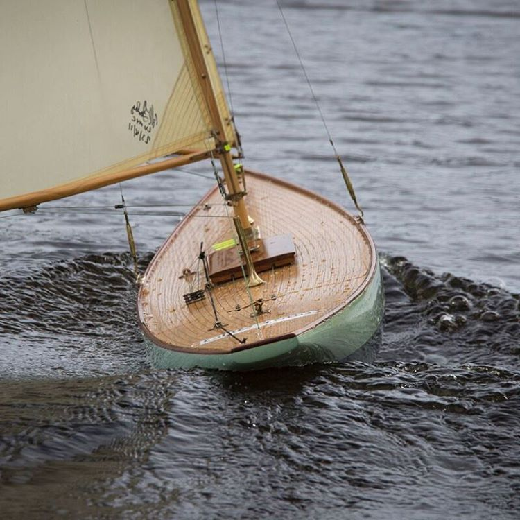 one of our 6mt class yachts going down wind pond