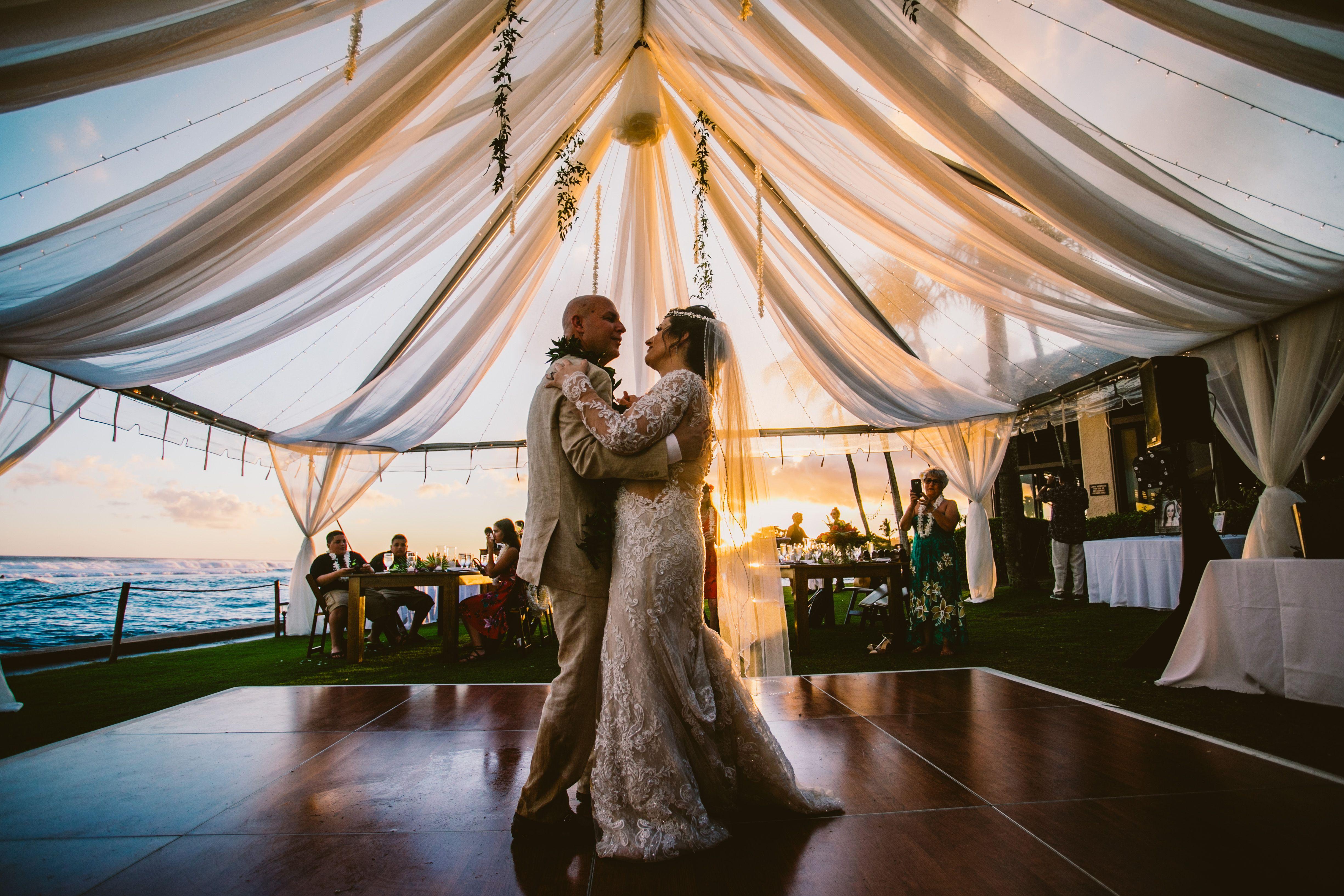 Destination Hawaii Wedding Lawn Reception 30 Guests