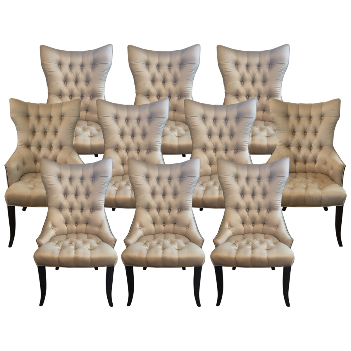 Wingback Tufted Dining Chairs Tufted Dining Chairs Dining