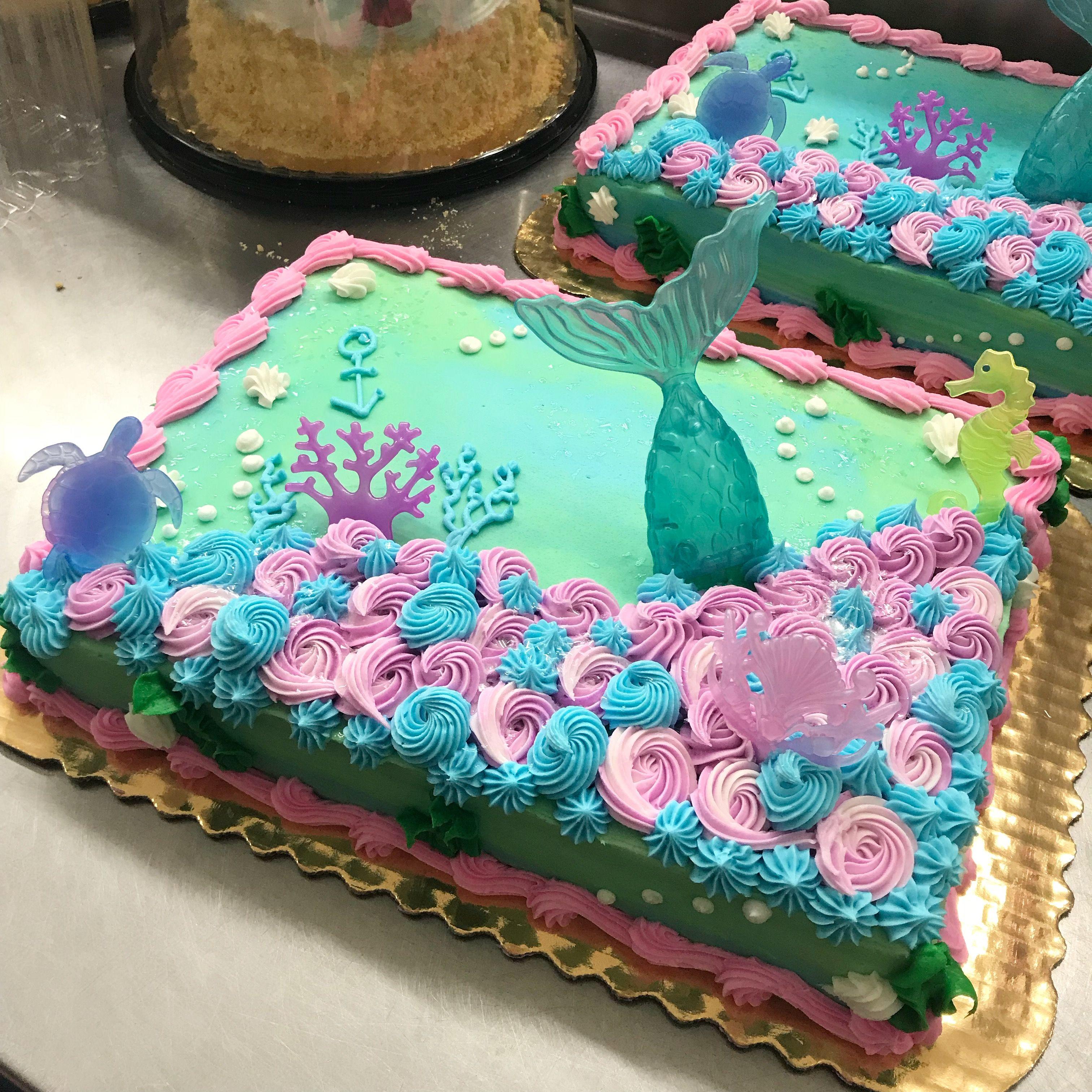 Mermaid Tail Sheet Cake