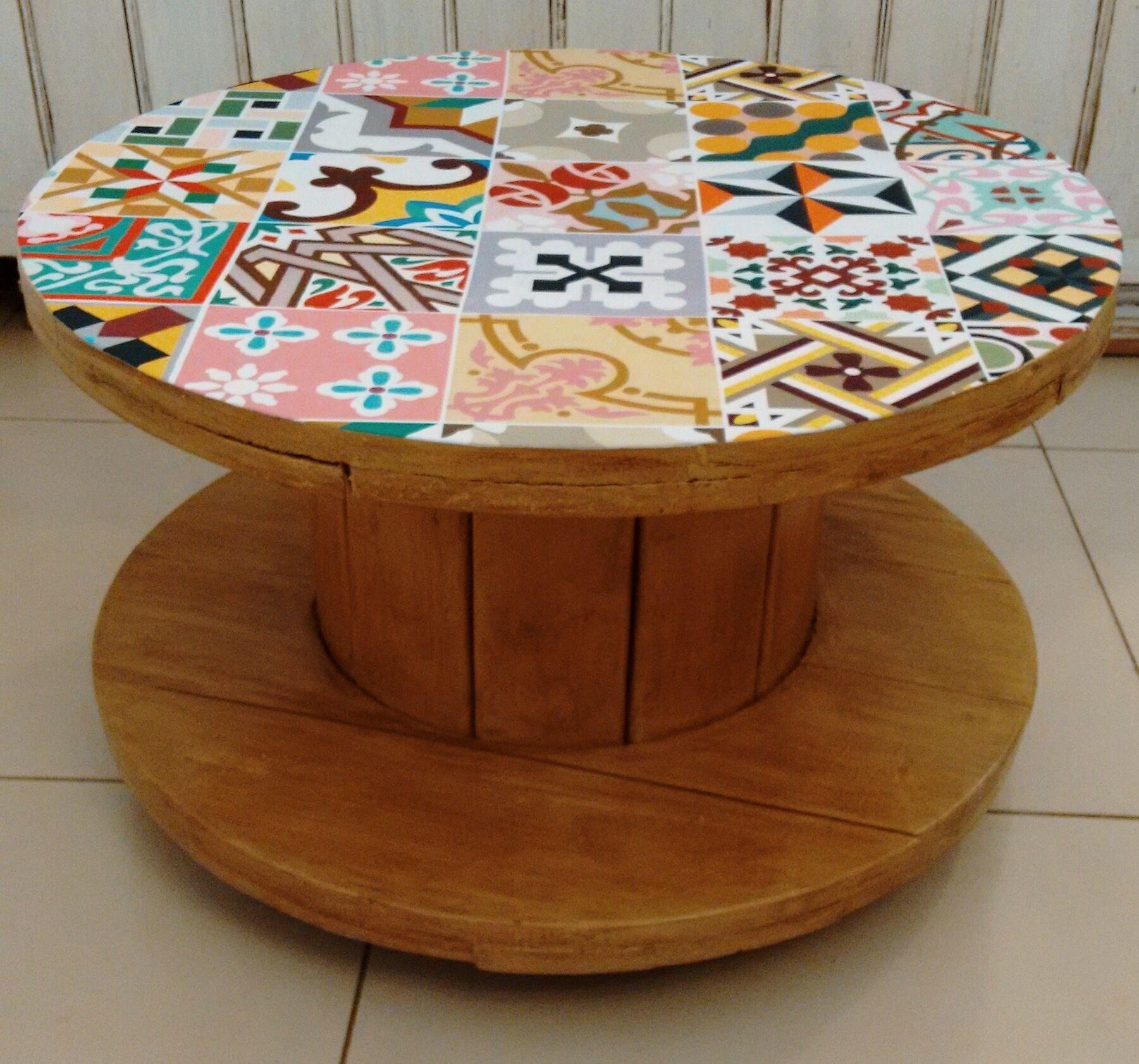 Mesa Carretel Madeira Pesquisa Google Muebles Pinterest  # Muebles Cubanos De Madera