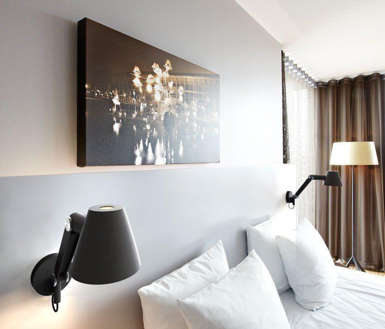 Black Light Bedroom: Nordlux's Cult Adjustable Black Wall Light 78371003