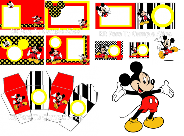 Kit imprimible gratis Mickey bebé - Imagui | Fiesta de mickey ...